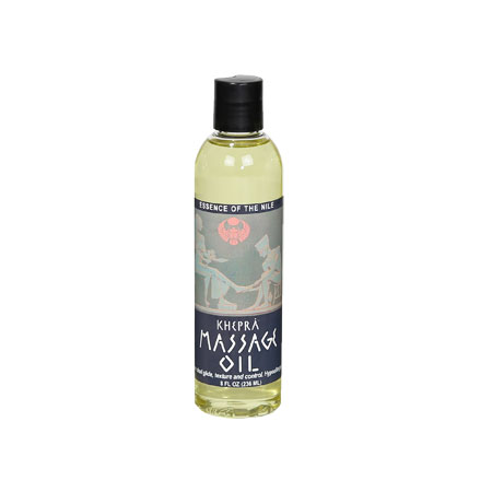Khepra Massage Oil Essence of the Nile Banner Therapy Biltmore NC
