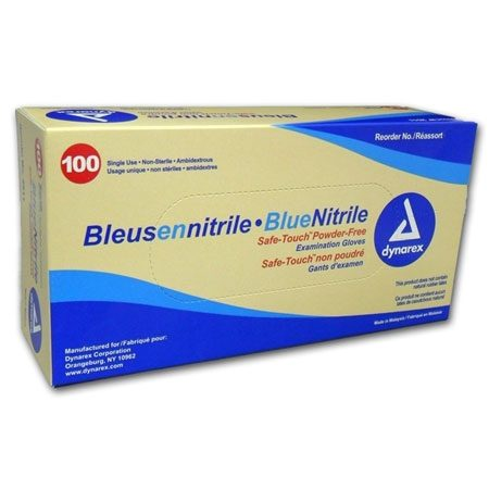 Blue Nitrile Examination Gloves Banner Therapy Asheville NC