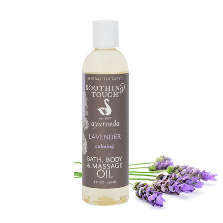 Soothing Touch Ayurveda Lavender Oil Banner Therapy Asheville NC