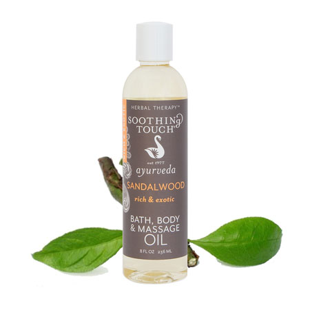 Soothing Touch Ayurveda Sandalwood Oil Banner Therapy Asheville NC